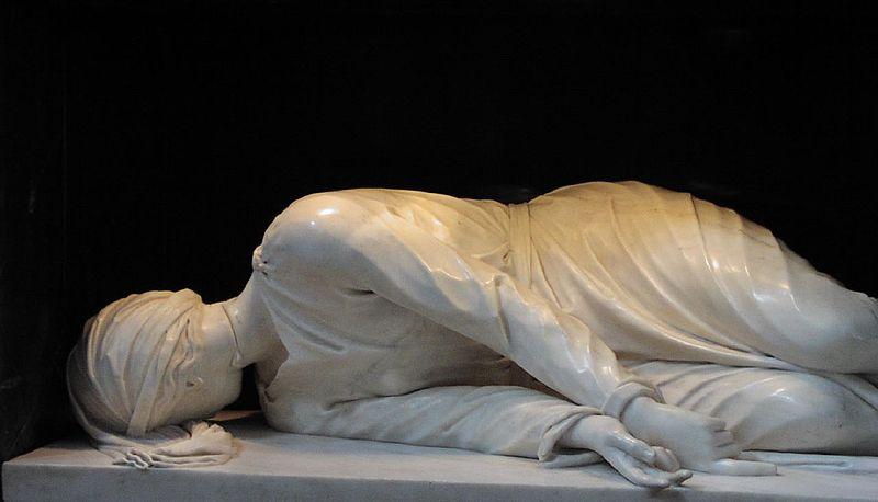 Stefano Maderno, O martírio de Santa Cecília, Igreja de Santa Cecilia em Trastevere, Roma (1599-1600)
