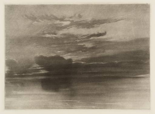 Estudo de Mar e Céu, circa 1825, Joseph Mallard William Turner (1775-1851)